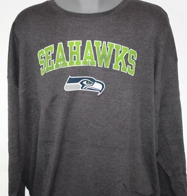 NEW Mens MAJESTIC Seattle Seahawks Grey Long Sleeve Big   Tall NFL Thermal  Shirt 8aed1b02e