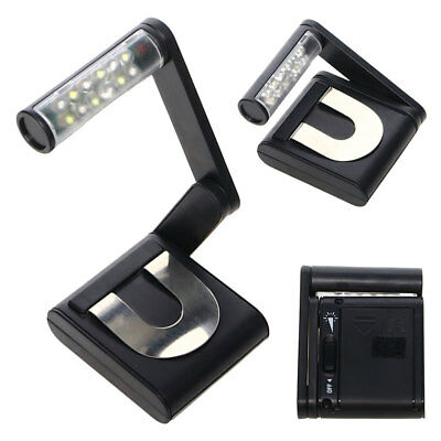 Reading Book Light  Bright Variable Lamp Fexible Folding Travel 12 LED Clip On