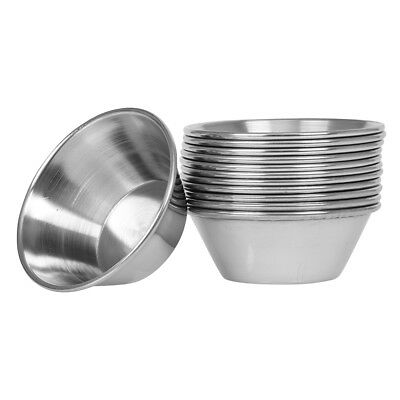 (48 Pack) 1.5 oz Sauce Cups, Stainless Steel Condiment Cups / Portion Cups