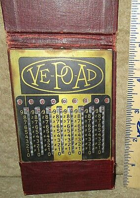 ANTIQUE VE-PO-AD Mechanical Adding Calculator