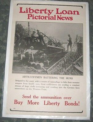 2 Wwi Liberty Loan Pictorial News Posters