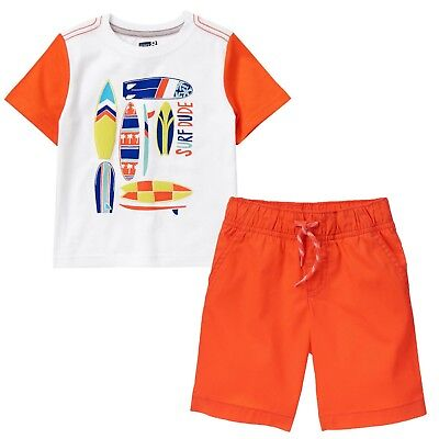NWT Crazy 8 Boys Size 4T 5T Crocodile Tee Shirt /& Pull-On Plaid Shorts 2-PC SET