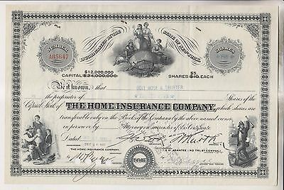 1932 Stock Certificate - The Home Insurance Company - New York