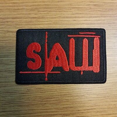 Saw Horror Movie embroidered Patch 3 3/4 inches tall