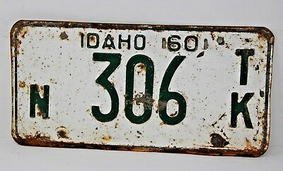 1960 IDAHO License Plate Collectible Antique Vintage Famous Potatoes N 306 TK