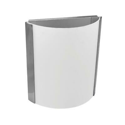 HomeSelects 1-Light Brushed Nickel Wall Sconce with Opal White Glass 6194