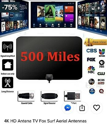 2018 Newest 4K Hd Tv Antenna Up To  500 Miles