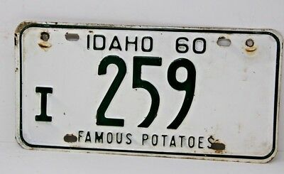 1960 IDAHO License Plate Collectible Antique Vintage Famous Potatoes I 259