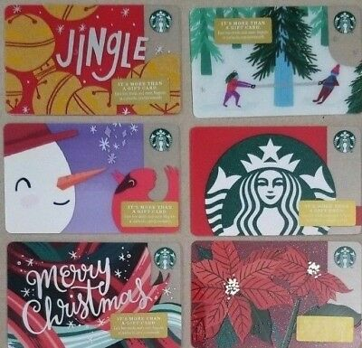 Collectible Starbucks Gift Cards - 2018 Holiday Collection (57 Cards)