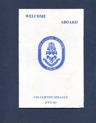FFG 16 USS CLIFTON SPRAUGE WELCOME ABOARD PAMPHLET US Navy Ship Squadron Booklet