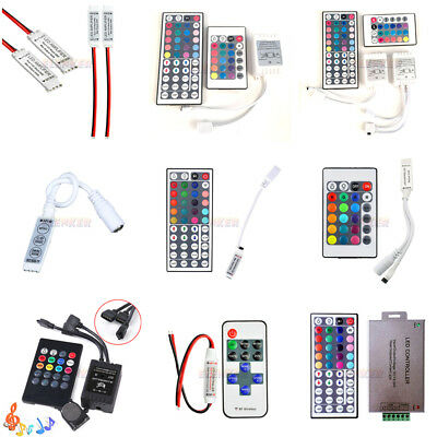 10 20 24 44 Key Music IR Remote Double Lines Controller For 5050 RGB Led Strips