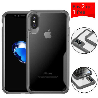 Ultra Slim Clear Hybrid Shockproof Hard Protective Case Bumper For iPhone X 10