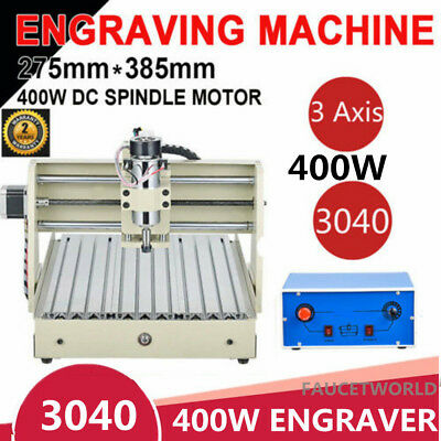 400W 3 Axis 3040 3D Engraver Router Engraving Drilling Milling 3D Machine