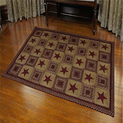 primitive braided rugs black taupe area country primitive braided jute rug india rectangle ihf star wine country star rectangle black and tan or