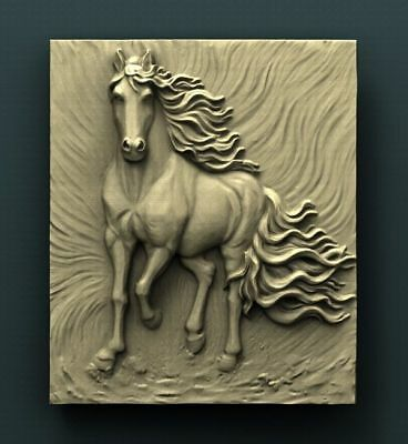 "3D STL Model Relief for CNC Router Aspire Artcam - ""THE AWESOME HORSE"""