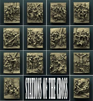 "3D STL Model Relief for CNC Router Aspire Artcam - ""STATIONS OF THE CROSS PACK"""