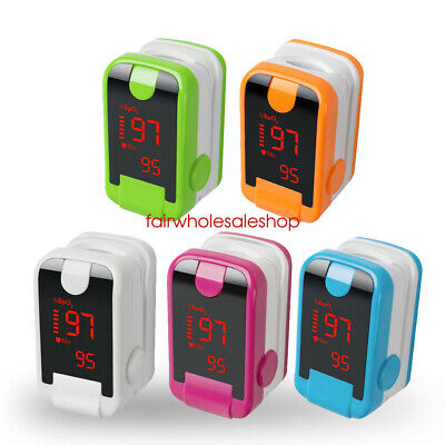 NEW LED Finger Pulse Oximeter Blood Oxygen Saturation SPO2 Heart Rate O2 Monitor