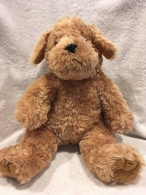 Build A Bear BABW Plush Shaggy Dog Brown Beige 17""