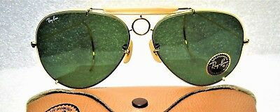 Ray-Ban USA NOS Vintage B&L Aviator SharpShooter Deluxe III 64mm New Sunglasses