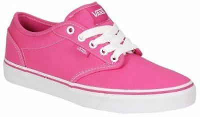 27ce789c7b Vans Girls Atwood Canvas Magenta Hot Pink   White Kids Youth Skate Shoes