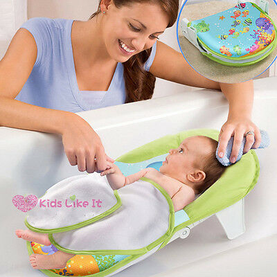 BABY Infant Newborn BATH Bed TUB w/ HEAD SUPPORT SEAT Foldable SAFETY SEA World