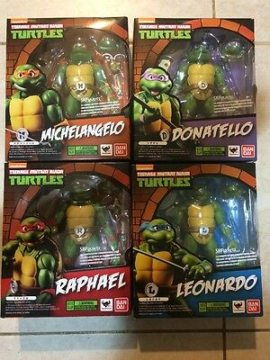 S.H.Figuarts Teenage Mutant Ninja Turtles Set Of 4 Free Shipping !!