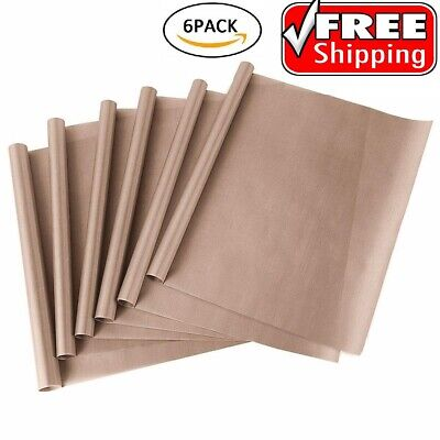6 Pack Teflon Sheet 16x20 Heat Press Transfer Art Craft Supply Sewing Tool Add