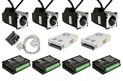 【EU Ship】4Axis NEMA23 23SSM8440 Closed-Loop Stepper motor 2.2N.m 4A&Drive HBS57
