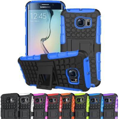 Hybrid Armor Rugged Shockproof Hard Impact Stand Case Cover for Samsung iPhone