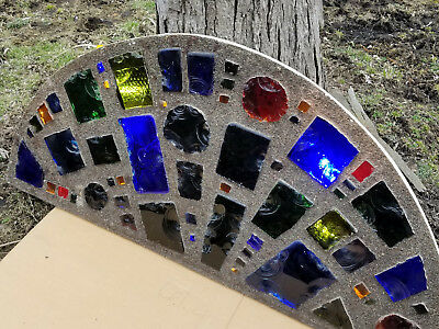 Dalle De Verre Stained Glass Vintage Chunk Glass Half Moon Barn Of Barrington Il
