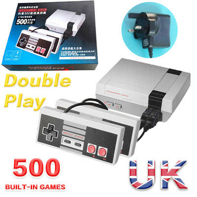 Retro TV Game Classic NES Console 8 Bit With 500 Built-in Games + UK Adapter UK