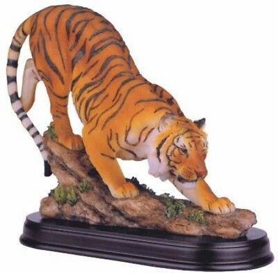 "8"" Bengal Tiger Statue Collectible Nature Wildlife Animal Decoration Figurine"
