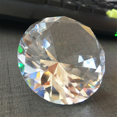 Clear Big 60mm K9 Crystal Diamond Glass Art Paperweight Decor Ornament Tableware