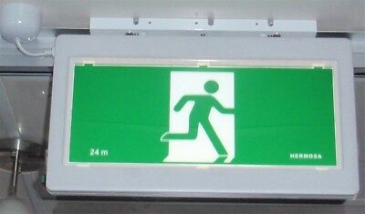 Slim LED Emergency Fire Exit Sign Commercial Running Man Wall & Ceiling Mount