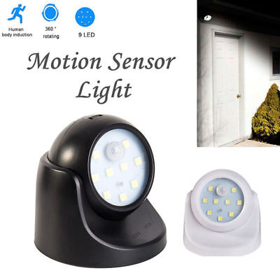 360° Motion Sensor Security Led Light Battery Operated Indoor Outdoor Garden