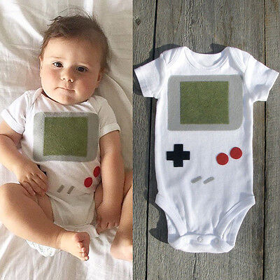 Game Infant Baby Boy Girl Cotton Romper Toddler Jumpsuit Bodysuit Clothes Outfit