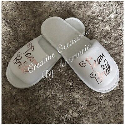 Personalised Bridal Slippers, Hen Party Slippers, Wedding Party Slippers