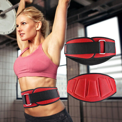 OneTwoFit Weight Lifting Belt Neoprene Gym Fitness Workout Double Support Brace
