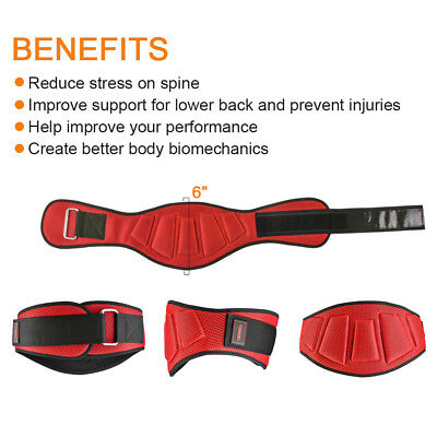 OTF Weight Lifting Belt Gym Back Support Power Training Lower Lumbar Pain Wide B