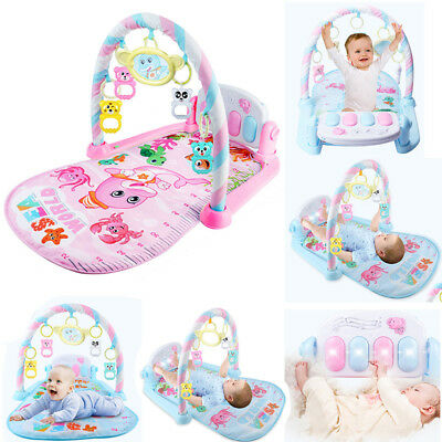 Baby Boy Girl Play Toy Mat Lay Play Fitness Music And Lights Fun Piano 3in1 Gift