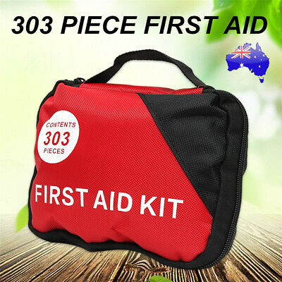 303 Piece Emergency First Aid Kit  A Must Have for Car, Travel, School & Sports
