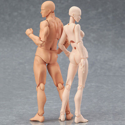 Drawing Figure For Artist Action Figure Model Human Mannequin Man Women Set Kit