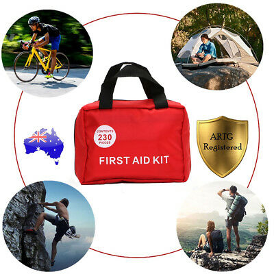 230PCS DELUXE FIRST AID KIT Family Emergency Medical Travel Survival Camping Set