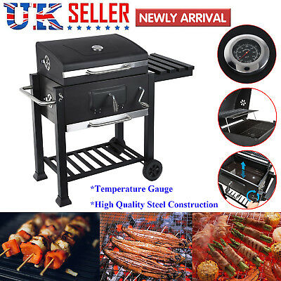 Stainless Steel BBQ Charcoal Grill Barbecue Garden Portable Outdoor 110x65x133cm