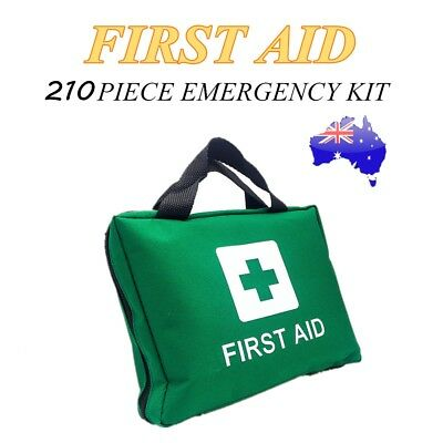 210pcs First Aid Kit Family Emergency Survival Medical Workplace Travel Set Bag