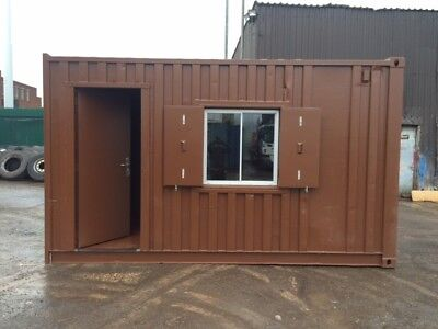 15ft x 8ft Office Shell Shipping Container - Birmingham
