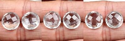Crystal Quartz 14x14 mm Round Briolette Gemstone 1 Pair Choose from Variation
