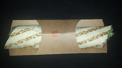 Kraft Tortilla / Baguette / Wrap Sleeves with Central Band Pack 500