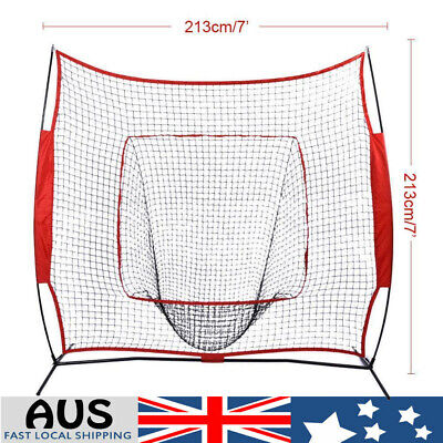 Baseball Softball Practice Net Hitting Batting Catching Pitching Training Net 7'