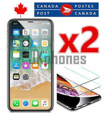 Premium Tempered Glass Screen Protector for iPhone XS XR 11 11 Pro Max (2 Pack)